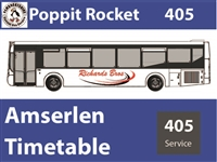 405 Timetable as from 27th July 2020