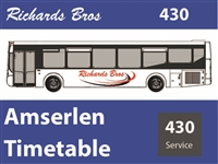 430 Reduced Timetable as from 27th July 2020