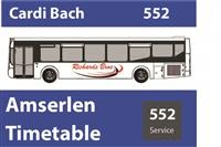 552 Cardi Bach Timetable