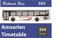 554 & X50 Reduced Timetable as from 1st September 2020