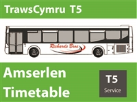 T5 Reduced Timetable as from 1st June 2020