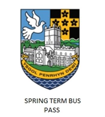 Ysgol Penrhyn Dewi Spring 2020 School Buss Pass